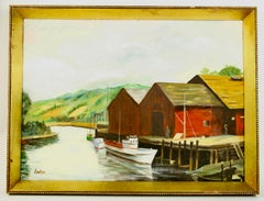 Dockside at The Cannery Seascape Landscape  Painting
