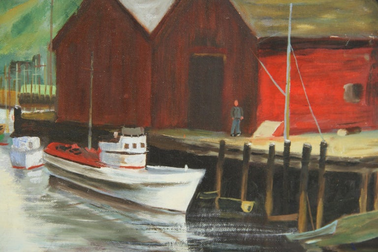 Dockside at The Cannery Seascape Landscape  Painting For Sale 2