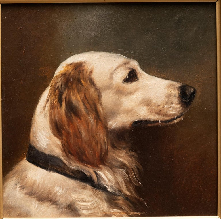 Dog Portrait of a Golden Retriever Circa 1900 - Painting by Unknown