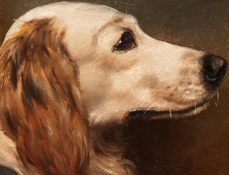 Dog Portrait of a Golden Retriever Circa 1900 - Brown Animal Painting by Unknown