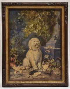 Dog - realist naturalist classic watercolor
