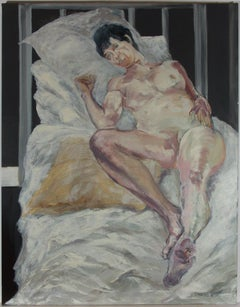 Don Hemming - 2016 Oil, Nude Reclining on a Bed