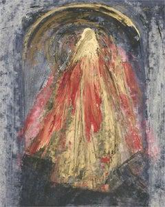 Don Hemming - Signed & Framed 1996 Oil, Figure in Gold
