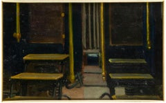 Dos Fotografias - Original Oil on Board - Early 20th Century