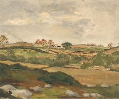 Double Sided Mid 20th Century Oil - Hilltop Cottage