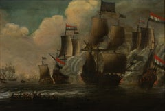 Dutch Maritime Battle Scene
