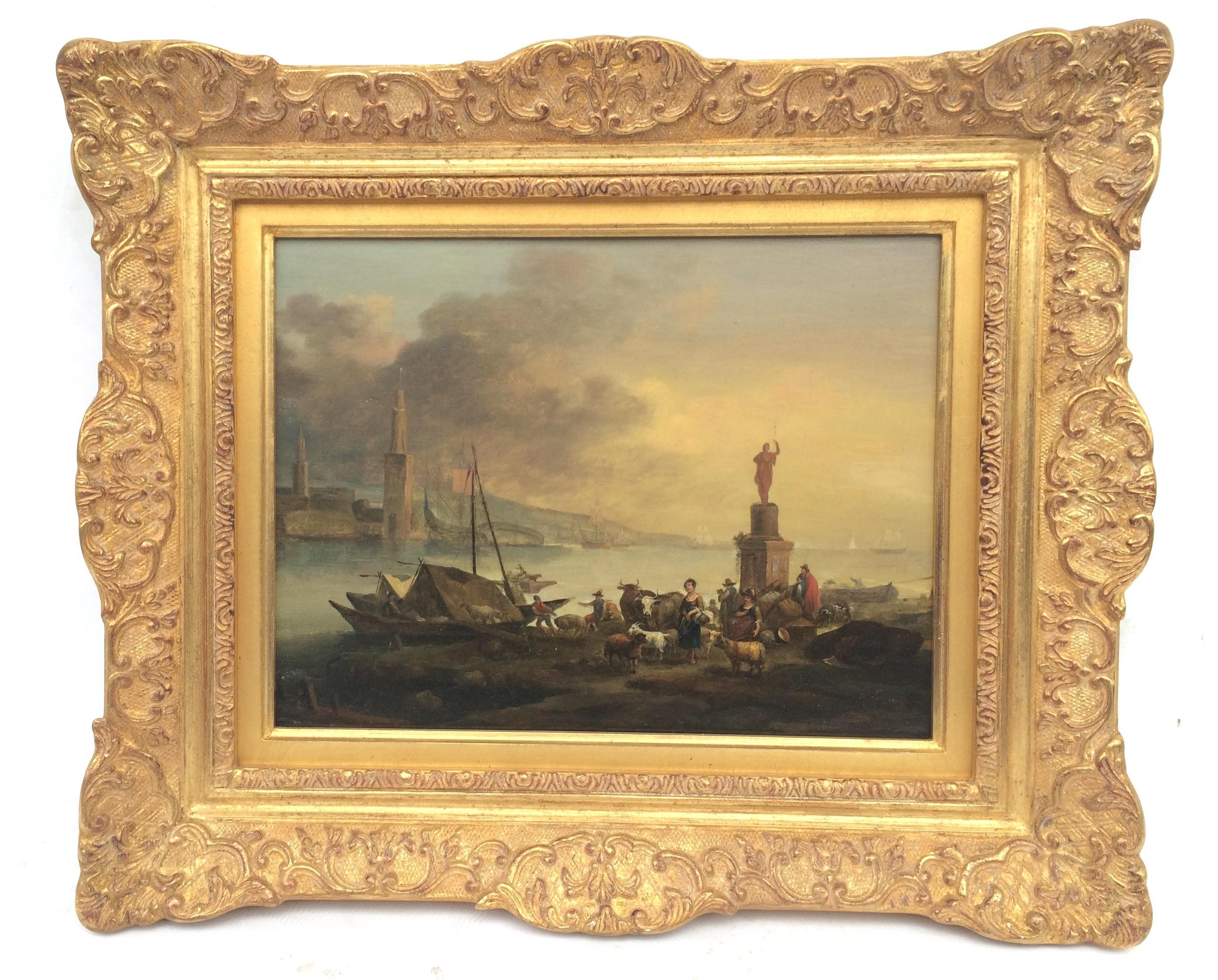 Dutch School 18th Century - Lively Marine