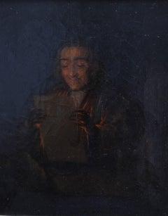 Dutch school 19th century, A philosopher reading, oil on canvas