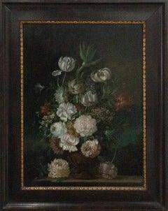 Dutch Style 19th Century Oil - Elegant Floral Still Life