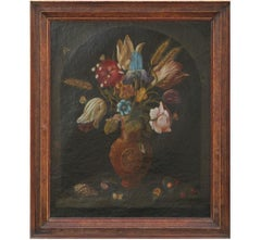 Dutch Style Vanitas Floral Still Life Painting