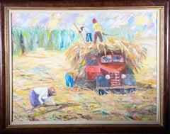 E. Rudo - Framed 1992 Oil, Harvest