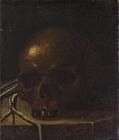 Early 17th Century Baroque Style Italian School Vanitas Oil on Canvas