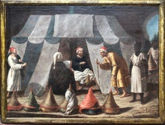 Early 17th Late 16th Century Painting of Honey Merchants