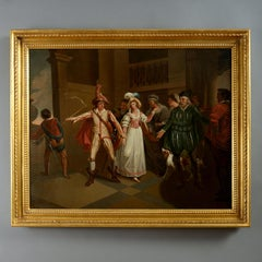 Early 18th Century Oil After Francis Wheatley, The Taming of The Shrew