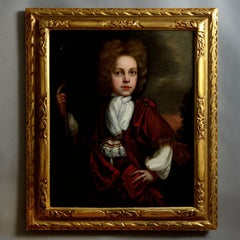 Early 18th Century Oil on Canvas Portrait of Samuel Bagshawe (1689-1712)