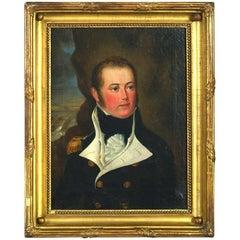 Early 18th Century Portrait of Lt. Edward Elers R.N. (1782-1815) -Oil on Canvas