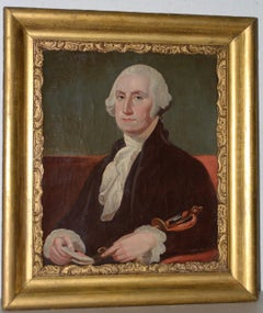 Early 19th Century Oil Portrait of George Washington c.1837
