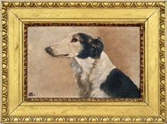 Early 20th Century British School Dog Portrait of a Borzoi