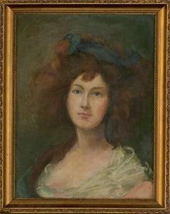 Early 20th Century Oil - Georgina Cavendish, Duchess Of Devonshire