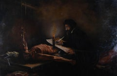 Early 20th Century Oil - The Autopsy