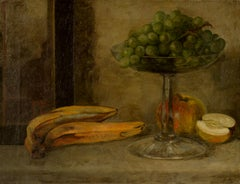 Early 20th Century Still-Life with Bananas and Grapes