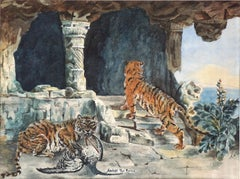 "Early 20th Century Tigers ""Amidst the Ruins"""