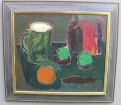 Early 20thC Modernist/ Expressionist Still Life oil circa 1922