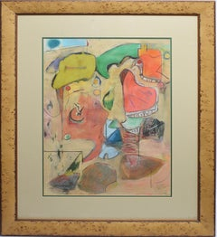 Early American Modernist New York School Signed Abstract Expressionist Painting