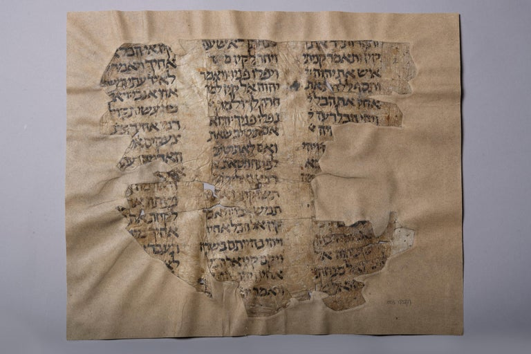 Early Bible Manuscript from the Cairo Genizah - Black Abstract Painting by Unknown