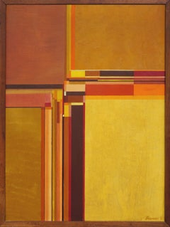 Earth Toned De Stijl Abstract by Berner 1962