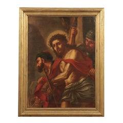 Ecce Homo Oil on Canvas Venetian School 17th Century