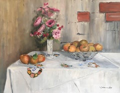 Elegant Still Life of Pink Flowers