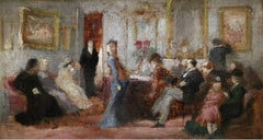 Elegantes in a Salon
