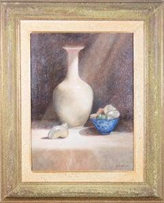 E.M. Thompson - Framed 20th Century Oil, Still Life with Sea Shells