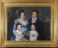 Empire French Family Portrait  Oil on Canvas