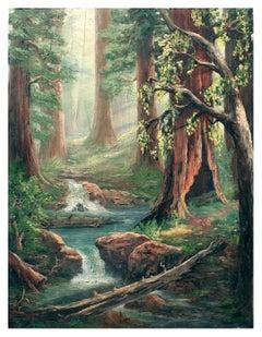 Enchanted Redwood Forest Landscape