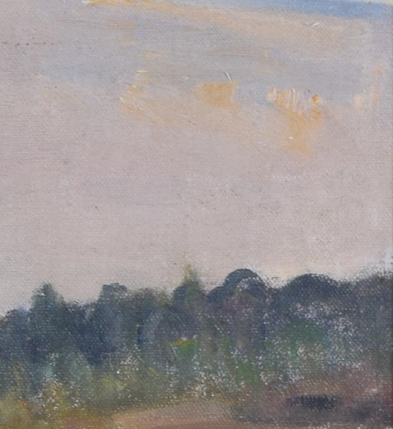 Anonymous  20th Century British School Oil on Canvas Board In hand-finished gallery frame  A skilful painting of a landscape view.