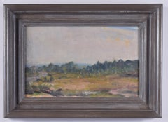 English Landscape Modern British Art Oil Painting River Forest 20th Century