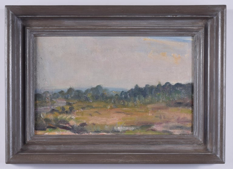 Unknown Landscape Painting - English Landscape Modern British Art Oil Painting River Forest 20th Century