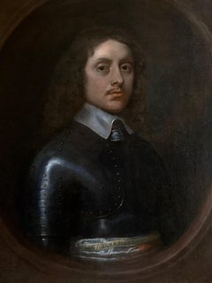 ENGLISH PORTRAIT OF A CIVIL WAR OFFICER IN ARMOUR  c.1640
