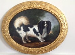 English School 18th Century Spaniel in a Landscape