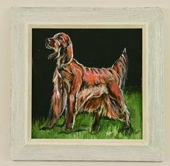 English Setter  Dog Animal  Painting