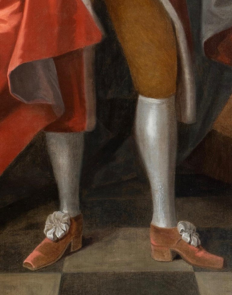 LATE 17TH CENTURY PORTRAIT OF ROBERT SUTTON, 1ST BARON LEXINGTON (1594 – 1668) - BRITISH SCHOOL.   Period Portraits are proud to present this large scale and a highly decorative portrait of Robert Sutton (1594-1668)  Inscribed 'Robert Sutton, Great