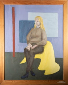 Eric Lunzer - 199 Oil, Composition with Seated Woman