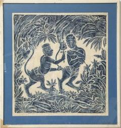 Ethnic Blue - Original Batik - 1970s