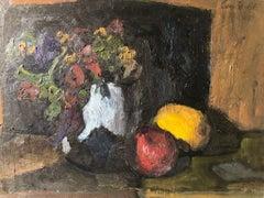 Expressionist Still Life Italian School 20th Century Oil On Panel