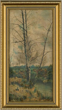F. Brentnall - Signed and Framed Early 20th Century Oil, River Trees