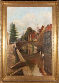F. Watson - Signed & Framed 1908 Oil, Continental River