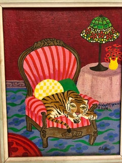 Fantasy Fauvist Tiger Painting