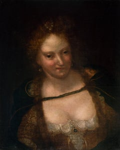 Female Portrait  - Oil on Canvas by Venitian School - Early 17th Century